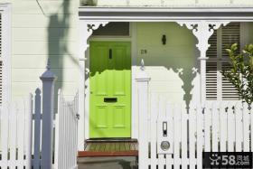 欧式现代别墅绿色清新客厅背景墙装修效果图