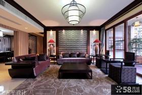 新中式风格客厅不吊顶效果图