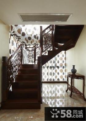 古典中式红木楼梯设计