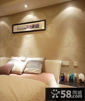 时尚卧室壁纸装修效果图