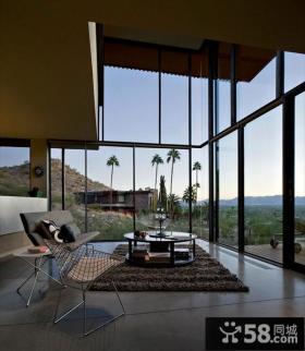 超现代的梦幻美式客厅家居装修设计效果图