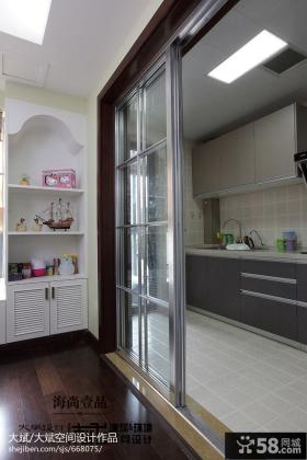 美式风格厨房门隔断效果图