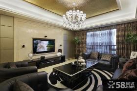 现代时尚客厅电视背景墙设计