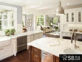 欧式风格大厨房台面装修效果图