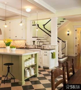 欧式风格复式开放式厨房装修效果图