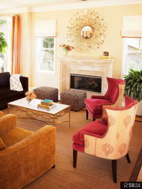 2015美式装修设计客厅图片