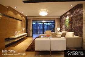 2013现代客厅瓷砖电视背景墙设计