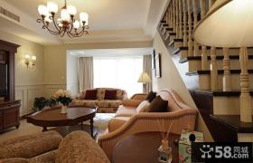 美式田园风格小客厅设计装修效果图