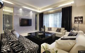现代风格豪华客厅电视背景墙装修图片大全