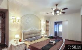 欧式风格卧室床头背景墙装饰效果图片