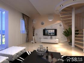 复式楼电视背景墙装修效果图大全2012图片