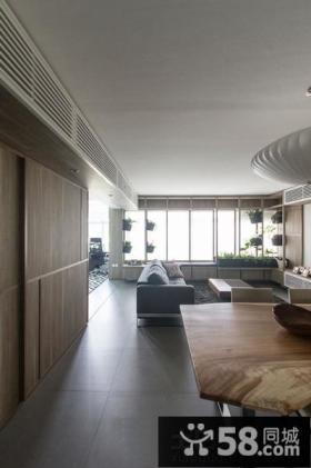 98平米简约风格两室一厅户型装修图欣赏