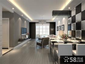 现代简约客厅电视墙装修设计图欣赏
