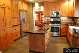 厨房实木橱柜效果图大全2013