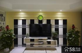 现代壁纸电视背景墙装修效果图大全图片