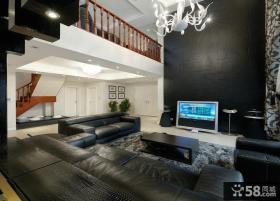 后现代设计风格复式家装效果图