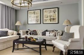 客厅沙发装饰画效果图片欣赏
