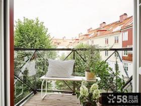 绿色休闲北欧小阳台设计