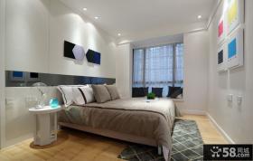 现代风格卧室床头背景墙图片