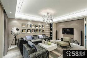 家装设计新古典风格客厅电视背景墙图片