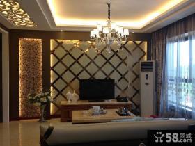 简约70平米小户型客厅电视背景墙装修效果图
