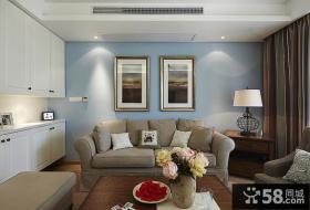 98平米美式混搭两室一厅一卫装修效果图