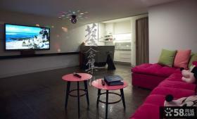 豪华复式装修客厅电视背景墙图片大全