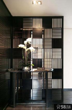 小户型玄关装饰屏风装修效果图