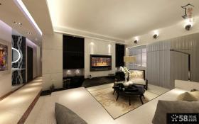 2013现代客厅电视背景墙设计