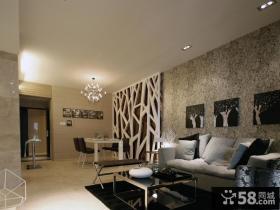现代风格客餐厅电视背景墙装修效果图片