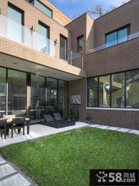 别墅二层阳台墙砖装修效果图