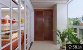 客厅阳台装修效果图 客厅阳台隔断装修效果图