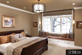 欧式卧室飘窗装修设计效果图