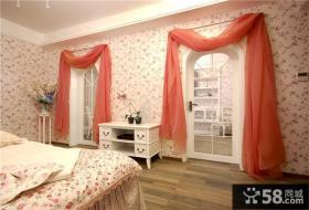 欧式田园主卧室壁纸装修效果图欣赏