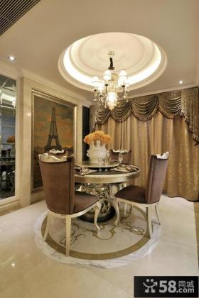 美式新古典风格餐厅吊顶图片大全欣赏