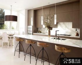 咖啡色复式楼厨房装修效果图大全2014图片