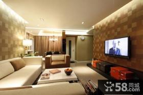 90平米温馨的小户型客厅装修效果图大全2014图片