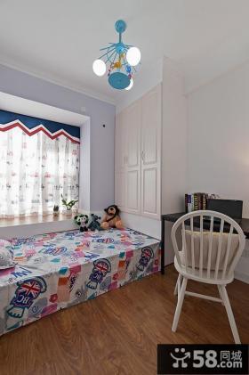 美式简约房间飘窗装修设计效果图