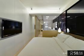 现代简约卧室电视背景墙效果图大全