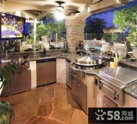别墅阳台改厨房装修效果图
