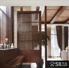 现代中式复式家装隔断设计效果图