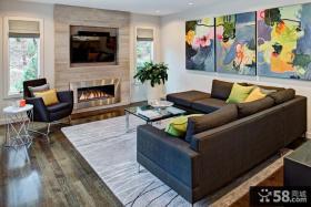 小型客厅电视背景墙设计图片