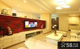 现代客厅电视背景墙装修图大全