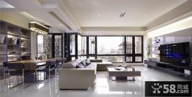 家居客厅电视背景墙设计效果图