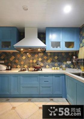 地中海风格装修厨房效果图片欣赏