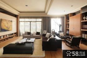 现代中式风格三室两厅客厅效果图大全