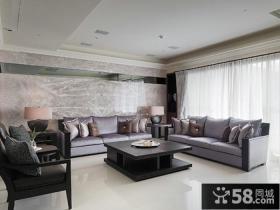 现代风格客厅沙发背景墙效果图欣赏大全