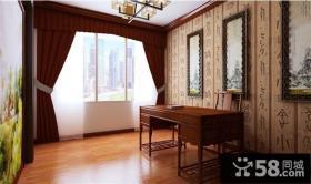 中式三室两厅两卫装修效果图 客厅电视背景墙温馨的港湾