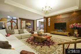 新中式风格客厅电视墙设计