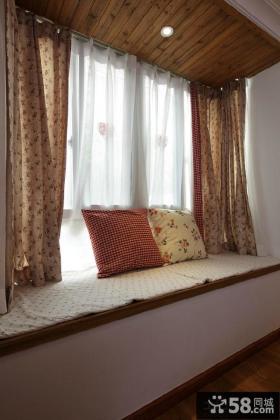 美式田园风格飘窗装修效果图欣赏